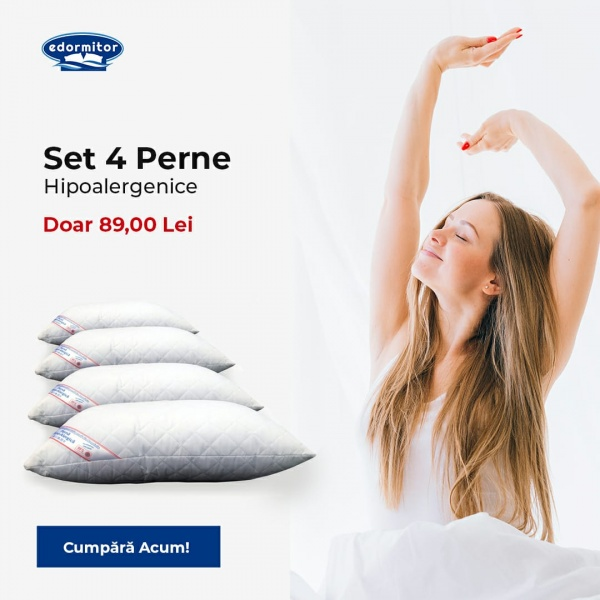 Set 4 Perne Matlasate Hypo-Alergice 50x70